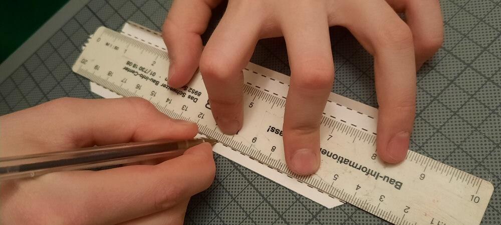 Lineal-Kugelschreiber-Präzise
