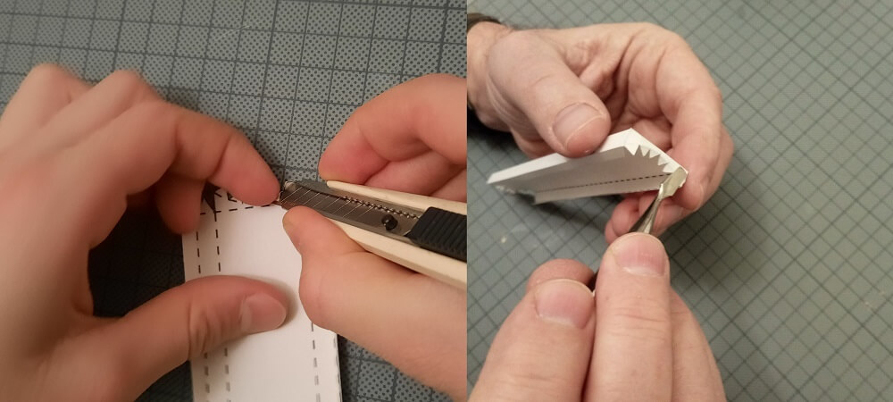 Pinzette-Falten-Hand-drücken