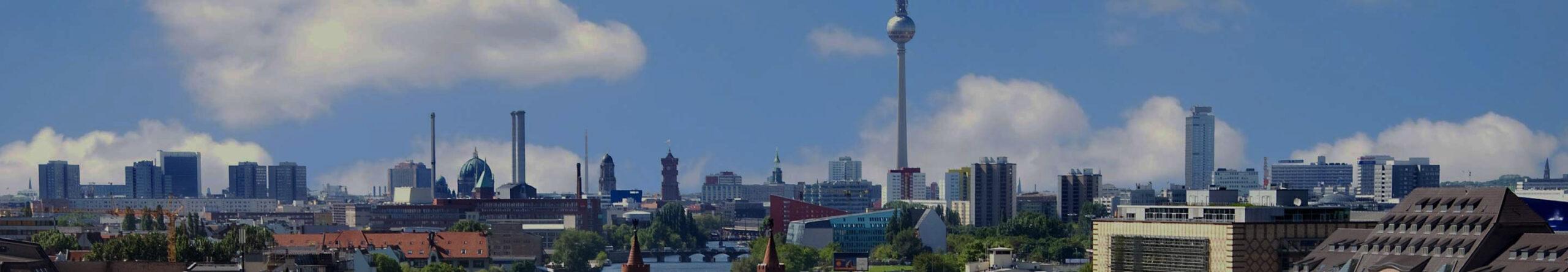 Bastelvorlage Berlin - Architektur Berlin - Skyline Berlin, Deutschland - Bauwerk basteln - Hochhäuser Berlin