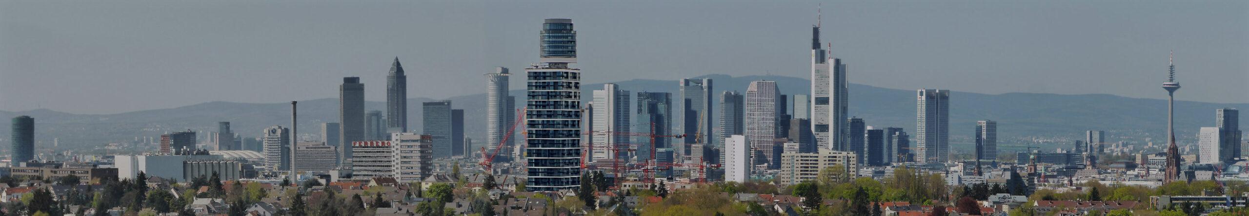 Bastelvorlage Frankfurt am Main - Frankfurt Skyline - Hochhäuser Frankfurt - Wolkenkratzer Frankfurt - Architektur basteln