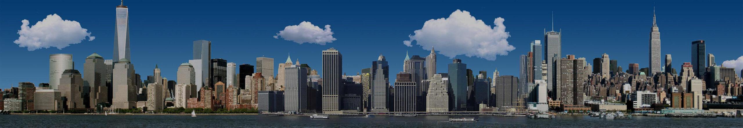 Bastelvorlage New York City - Panorama NYC - Architektur New York - Hochhaus basteln - Wolkenkratzer basteln - Skyline New York, USA