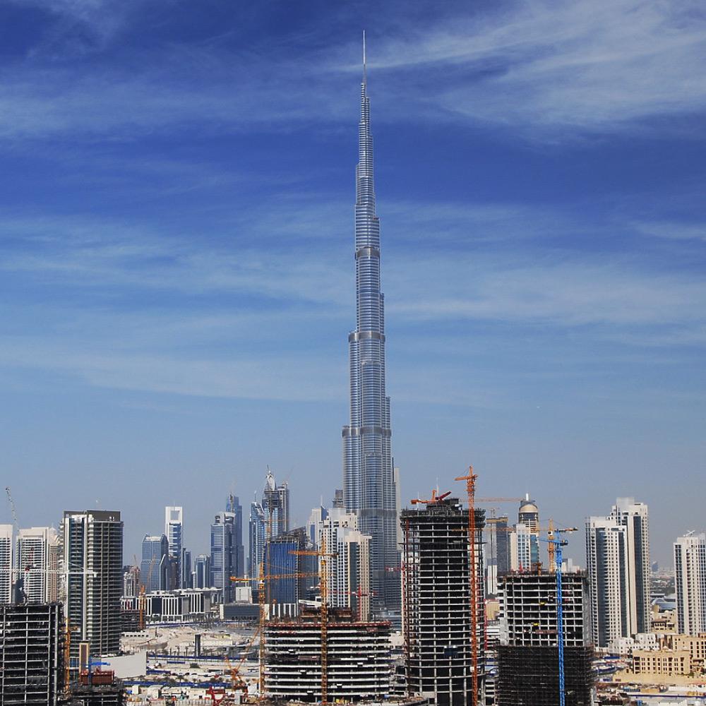 Burj Khalifa in Dubai - Höchster Wolkenkratzer der Welt - Höchstes Hochhaus weltweit