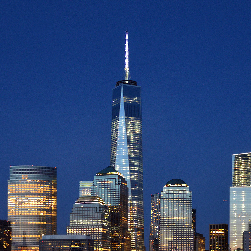 One World Trade Center in NYC - WTC in New York City (USA)