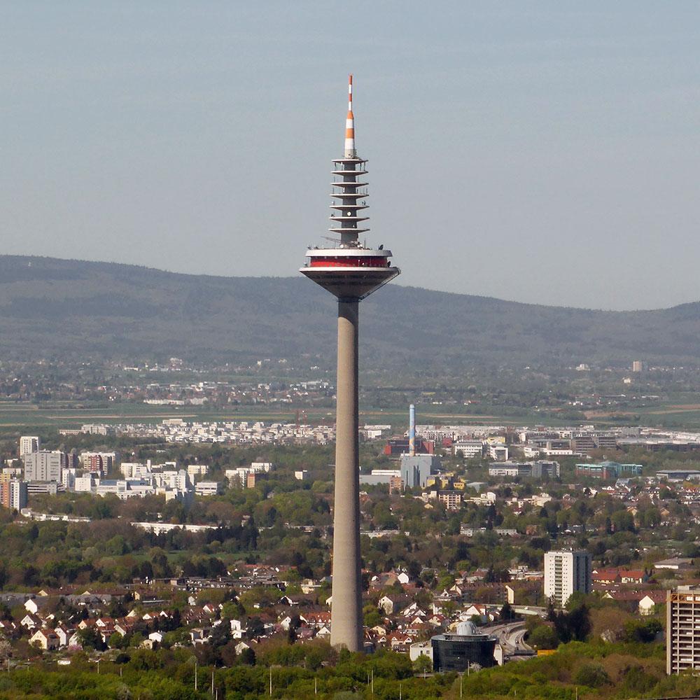 Europaturm Fernsehturm Bastelvorlage Frankfurt