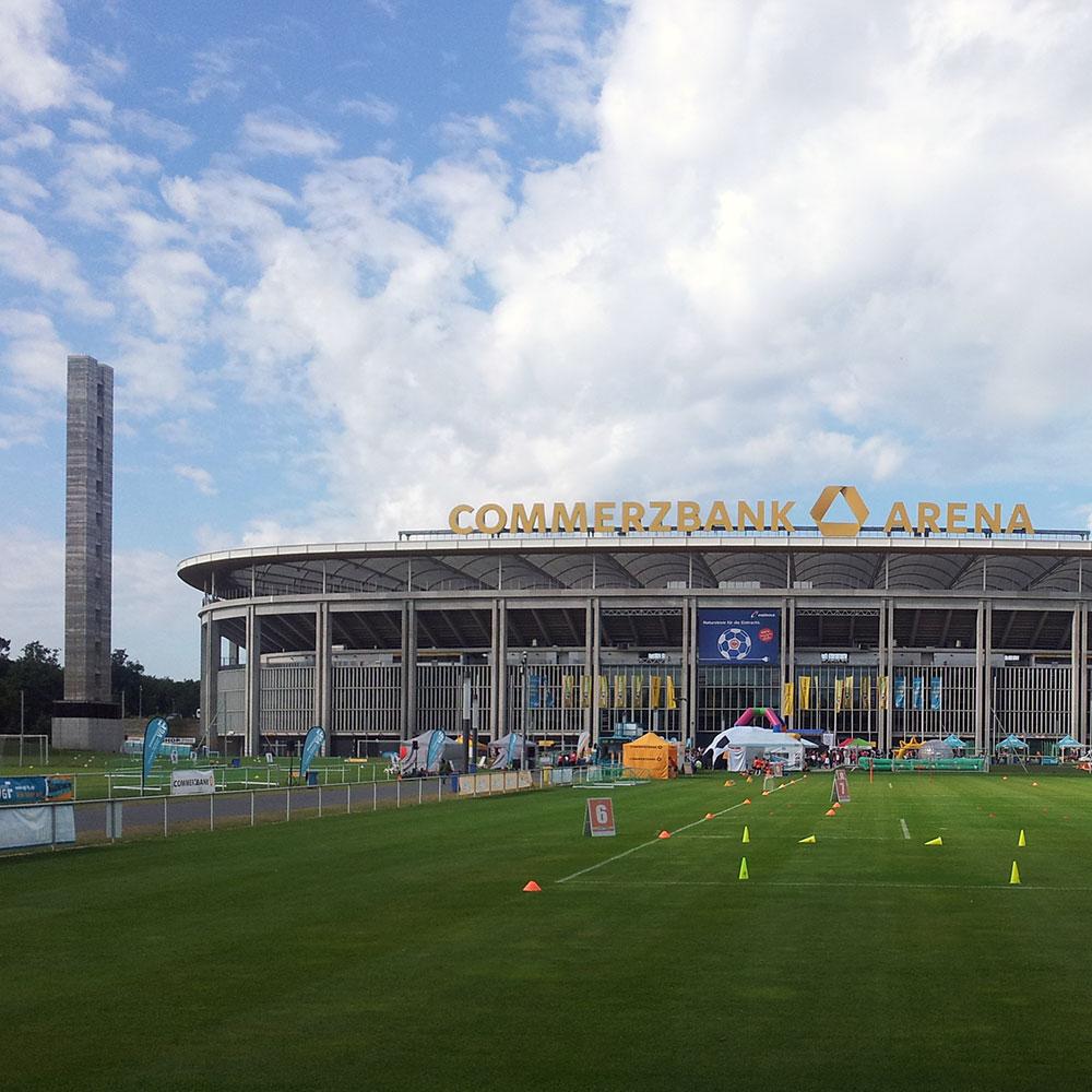 Waldstadion - Commerzbank Arena - Deutsche Bank Park - Bastelvorlage Frankfurt